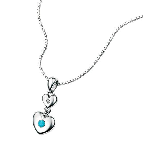 D For Diamond Silver Pendant For Girls P2961