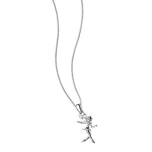 D For Diamond Silver Fairy Pendant For Girls P2966