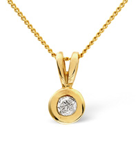 9K Yellow Gold 0.15Ct Diamond Necklace From Catalina Diamonds E1011
