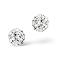9K White Gold 0.25Ct Diamond Earrings From Catalina Diamonds F1578