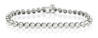 9K White Gold 5Ct Diamond Bracelet From Catalina Diamonds G1156