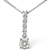 18K White Gold 0.5Ct Diamond Necklace From Catalina Diamonds (CLON)