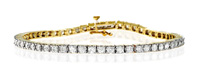 9K Yellow Gold 3Ct Diamond Bracelet From Catalina Diamonds G1388