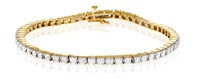9K Yellow Gold 1Ct Diamond Bracelet From Catalina Diamonds G1389