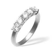 0.5CT G/VS Diamond 5 Stone Ring Platinum from Catalina Diamonds DR04-50VSQ