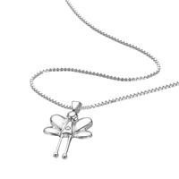 D For Diamond Silver Fairy Pendant For Girls P644