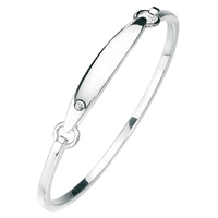 D For Diamond Silver Bangle For Girls B2805