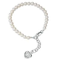 D For Diamond Silver Heart Bracelet For Girls B2812W
