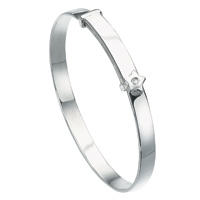 D For Diamond Silver Adjustable Star Bangle For Girls B772