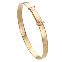 D For Diamond 9Ct Yellow Gold Adjustable Cross Bangle For Boys Gb129