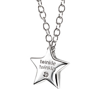 D For Diamond Silver Twinkle Twinkle Necklace For Girls N2806