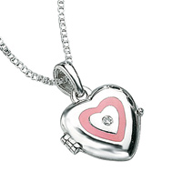D For Diamond Silver Heart Pendant For Girls P2157