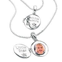 D For Diamond Silver Twinkle Twinkle Little Star Pendant For Girls P2383