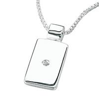 D For Diamond Silver Pendant For Boys P2415