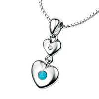 D For Diamond Silver Pendant For Girls P2961