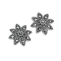 Silver Marcasite Earrings From Elements Silver E2053