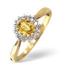 9K Yellow Gold 0.12Ct Diamond, Yellow Sapphire Ring From Catalina Diamonds C3224