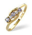 9K Yellow Gold 0.01Ct Diamond, Tanzanite Ring From Catalina Diamonds C3246