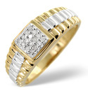 9K Yellow Gold 0.11Ct Diamond Ring From Catalina Diamonds D1170