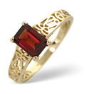 9K Yellow Gold African Garnet Ring From Catalina Diamonds Y1595