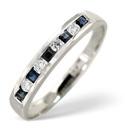 9K White Gold 0.09Ct Diamond, Sapphire Ring From Catalina Diamonds C1533