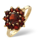 9K Yellow Gold Garnet Ring From Catalina Diamonds Y1590