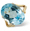 9K Yellow Gold Blue topaz Ring From Catalina Diamonds Y1228