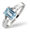 9K White Gold Sky Blue topaz Ring From Catalina Diamonds Y1240