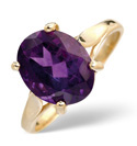 9K Yellow Gold Amethyst Ring From Catalina Diamonds Y1254