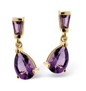 9K Yellow Gold Amethyst Earrings From Catalina Diamonds F2035
