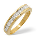 9K Yellow Gold 0.5Ct Diamond Ring From Catalina Diamonds C1667