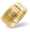 9K Yellow Gold 0.03Ct Diamond, Onyx Ring From Catalina Diamonds C3061
