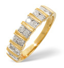9K Yellow Gold 0.5Ct Diamond Ring From Catalina Diamonds C3086