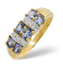 9K Yellow Gold 0.03Ct Diamond, Tanzanite Ring From Catalina Diamonds C2776