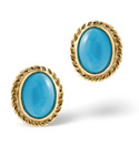 9K Yellow Gold Turquoise Earrings From Catalina Diamonds Z1149