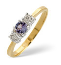 9K Yellow Gold 0.25Ct Diamond, Tanzanite Ring From Catalina Diamonds Y2155