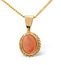 9K Yellow Gold Coral Necklace From Catalina Diamonds Z1136