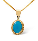9K Yellow Gold Turquoise Necklace From Catalina Diamonds Z1150