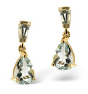 9K Yellow Gold Aquamarine Earrings From Catalina Diamonds F2037