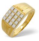 9K Yellow Gold 0.25Ct Diamond Ring From Catalina Diamonds D1120