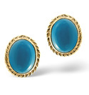 9K Yellow Gold Turquoise Earrings From Catalina Diamonds Z1151