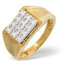 9K Yellow Gold 0.23Ct Diamond Ring From Catalina Diamonds D1086