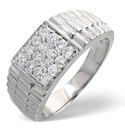 9K White Gold 0.5Ct Diamond Ring From Catalina Diamonds D1128