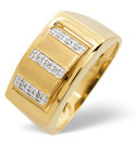 9K Yellow Gold 0.05Ct Diamond, Onyx Ring From Catalina Diamonds C3062