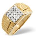 9K Yellow Gold 0.5Ct Diamond Ring From Catalina Diamonds D1127