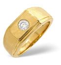 9K Yellow Gold 0.2Ct Diamond Ring From Catalina Diamonds D1025