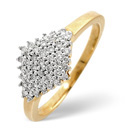 9K Yellow Gold 0.23Ct Diamond Ring From Catalina Diamonds C2813