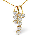 9K Yellow Gold 0.23Ct Diamond Necklace From Catalina Diamonds E1853