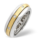 9K Two Tone Gold 0.1Ct Diamond Ring From Catalina Diamonds C2418