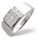 9K White Gold 0.33Ct Diamond Ring From Catalina Diamonds D1062